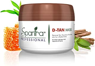 Spantra De Tan Mask for Tan Removal Radiant Glow, infused with Kojic Acid, Liquorice and Honey, Suitables for Dry, Sensiti...
