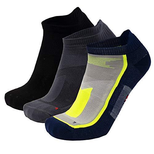 DANISH ENDURANCE Laag Uitgesneden Hardloopsokken voor Heren en Dames, 3 of 5-Pak, Anti-Blaar, Atletische Sokken voor Sport, Sneakers, Zomer, Zwart, Wit, Blauw