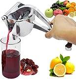 Tip&Top creation Aluminium Manual Fruit Juicer Hand Press Juicer Machine Home Made Orange, Watermelon, Lemon Juice Instant Guest Serving Drink Juicer in Home (Silver)-1 pcs