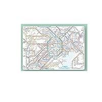 鉄道路線図 下敷き 首都圏 英語版