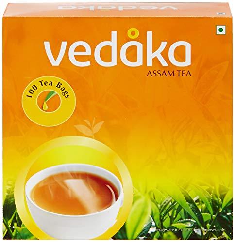 Vedaka Assam Tea - 100 Tea Bags Pouch, 100 x 2 g