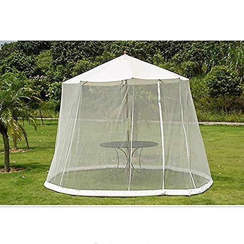 DSHUJC Cubierta de Mosquitos para jardín al Aire Libre, sombrilla, mosquitera, toldo, Patio, Juego de Mesa, Pantalla, casa, Gran Red Premium para sombrilla o glorieta