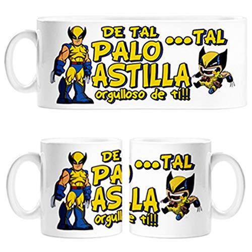 Taza Parodia Hombre Lobo superheroe de Tal Palo Tal Astilla Orgulloso de ti - Cerámica