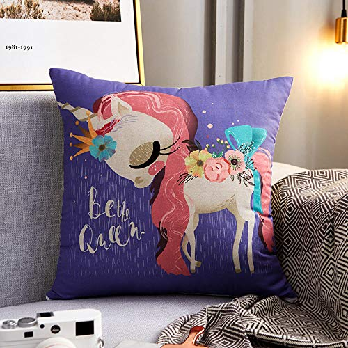 xiaoxong658 Throw pillow Dh5 Nordic style pillow sofa cushion super soft car waist cartoon core pillow net red living room square pillow-45 * 45cm (cover + core)_purple Square pillow