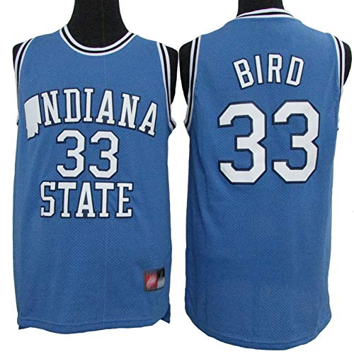 Herren Basketball Trikot - Larry Bird # 33 Boston Celtics All Star Classics Swingman Trikot, Retro Cool Atmungsaktives Gewebe Sport T-Shirts,S(170cm/50~65kg)