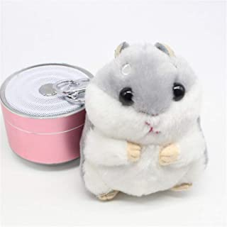 Guoshang Women Hamster Plush Keychain,Cute Stuffed Animal Handbag Pendant for Phone