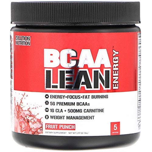 EVLution Nutrition BCAA Energy, Fruit Punch, 56g (5 Servings)