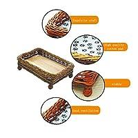 JIANXIN ペットの巣、籐の猫の巣、犬のベッド、猫の に適した、四季のユニバーサル(3色、4サイズ) (色 : C, サイズ さいず : S s)