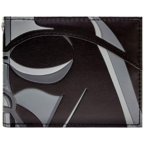 Cartera de Star Wars Máscara Darth Vader Primer Plano Negro