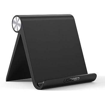 UGREEN Tablet Stand Holder Adjustable Compatible for iPad 10.2 2019, iPad Pro 11 Inch 2020, iPad 9.7 2018, iPad Mini 5 4 3 2, iPad Air, Nintendo Switch, iPhone 11 Pro Max XS XR X 8 Plus 7 6 (Black)