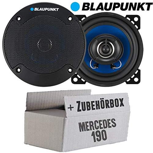 Mercedes 190 | W201 Front - Lautsprecher Boxen Blaupunkt ICx402-10cm 2-Wege Auto 100mm Einbauzubehör - Einbauset