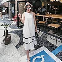 ドレスミルクシルクロングスカート女性ルーズ大きいサイズベストスカートストライプウェアワイルドスカート