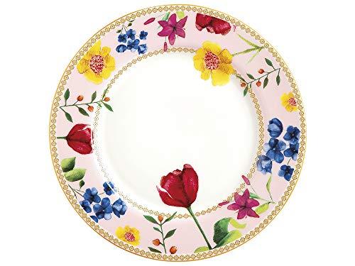 Maxwell Williams HV0029 - Plato para tarta y té (tamaño pequeño), diseño de flores, porcelana, Rosa rosa, 19,5 cm