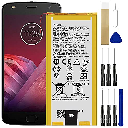 for Motorola Moto G5 Plus XT1687 Replacement Battery HG40 Free Adhesive Tool