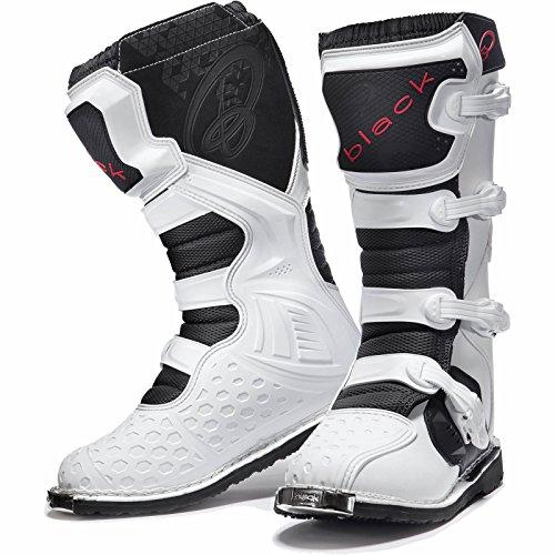 Black MX Enigma Motocross Boots UK 9/EU 43 White
