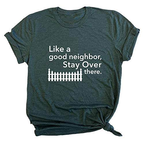 Spunky Pineapple Like a Good Neighbor, Stay Over There Funny Social Distancing Premium Unisex T-Shirt