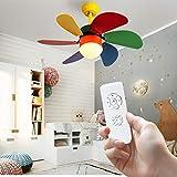 PHLPS Moderna sencillez araña colorido colgante luz luz lámpara de techo luz de techo niña led iluminación decoración labrado hierro lámpara cuerpo con ventilador de madera cuchillas for la habitación