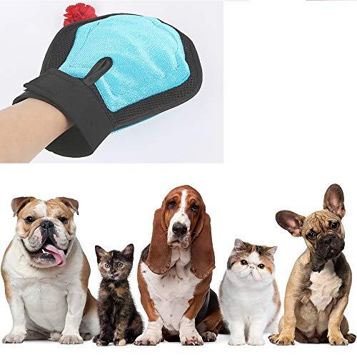 Wo nice De Doble Cara Guantes De Masaje para Mascotas Mascota Mascotas Guantes De Baño De Silicona Anti-Arañazos Son Duraderos para Gatos Y Perros ✅