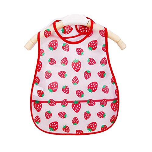 Weich-PVC, EVA-Baby wasserdichte Lätzchen für 1-3 Jahre Baby Kleine Erdbeere