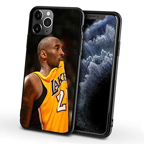 XMYP Funda para iPhone 7/8 Kobe, diseño de jugador de baloncesto 24# para niñas, hombres y niños, a prueba de golpes, antideslizante, diseño de gel de sílice, personalizable M-7/8