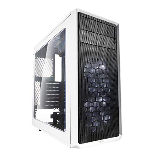 Fractal Design Focus G - Mid Tower Computer Case - ATX - High Airflow - 2X Silent ll Series 120mm LED Fans Included - USB 3.0 - Window Side Panel - White