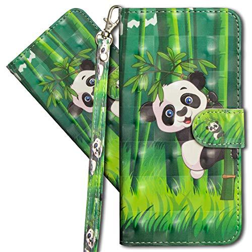 MRSTER Oppo Reno4 Z 5G Handytasche, Leder Schutzhülle Brieftasche Hülle Flip Hülle 3D Muster Cover mit Kartenfach Magnet Tasche Handyhüllen für Oppo Reno 4Z 5G. YX Panda Bamboo