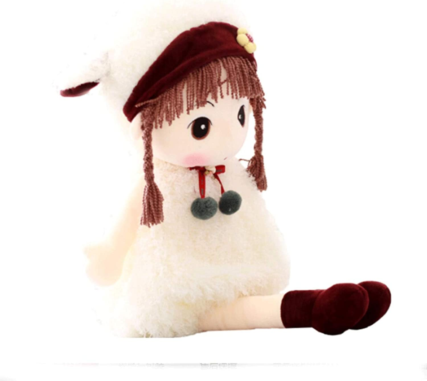 Hengtongtongxun Plush Toys, Cute Flower Fairy Plush Toys, Dolls, Birthday Gifts, Multiple colors And Sizes, Best Gift latest models (color   White, Size   60CM)