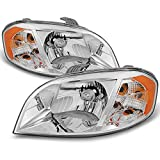 For 2007 2008 2009 2010 2011 Chevy Aveo 4 Door Sedan LH Left & RH Right Both Side Headlights Pair Set