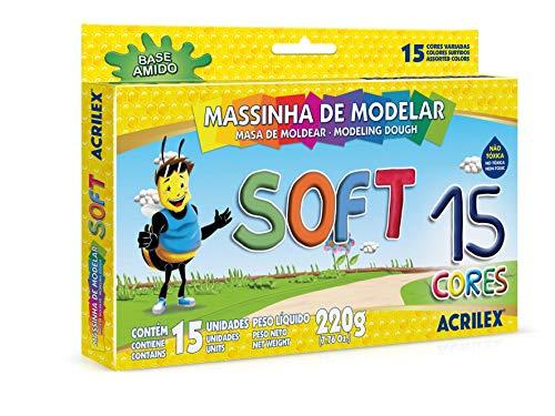 Massinha Soft 15 Cores Acrilex