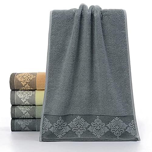 Toallas de Mano extragrandes de algodón Suave,Toalla Jacquard de algodón para el hogar 4 Piezas-Gris Azul_34 * 74cm,Toallas de baño de Rizo