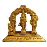 GURU JEE Brass Idol Ram Darbar Statue Lord Rama Laxman Sita Hanuman Religious Gift Indian Art Showpiece Pooja Temple Mandir Home Décor
