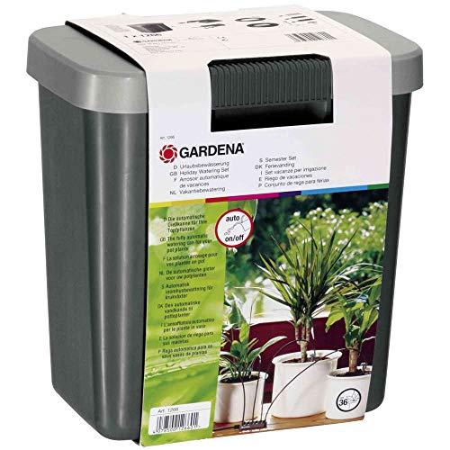 Arrosoir Automatique de Vacances pour Jardinage Urbain Gardena: Kit d'Arrosage avec Réservoir de Stockage pour jusqu'à 36 Plantes (1266-20)