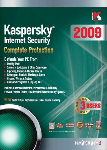 Kaspersky Internet Security 2009, 3-Desktop, 1 year Subscription (PC) [Import anglais]