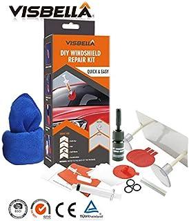 Visbella DIY Windshield Repair Kit Auto Windscreen Glass Windshield Scratch Crack Restore Tools Car Care Repair Kit with Cloth