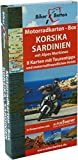 Motorradkarten Box Korsika Sardinien: mit Alpes Maritimes
