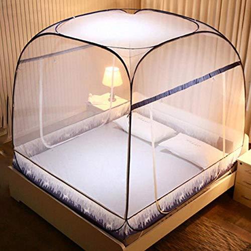 Piner 3 Größen Pop-Up Moskitonetz Zelt Klapp Mongolei Tasche Moskitonetz Für Betten Anti Mosquito Bites Faltendes Design Moskitonetze, 195x150x160cm