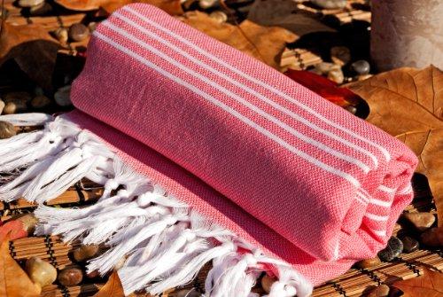 Cranberry Pink Cotton Towel As Bath Towel Beach Towel Turkish Towel...