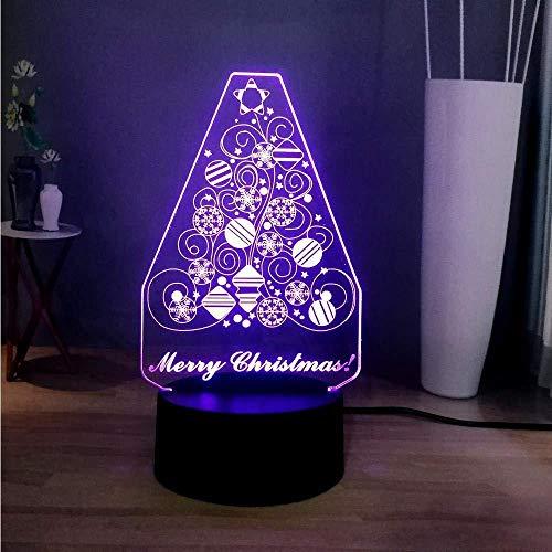 Neu Nachtlichter 3D Dazzle 7 Farbwechsel Schöne Weihnachtsbaum LED Schlafzimmer Schlaf Süße Nachtlampe Kinder Neujahrsgeschenk Spielzeug