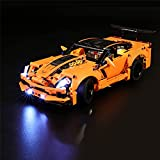GEAMENT Versión actualizada Kit de luz LED para Technic Chevrolet Corvette ZR1 Car – Compatible con el modelo LEGO 42093 (juego LEGO no incluido)