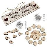 Tomaibaby 1 set de calendario de madera para recuerdos, para manualidades, cumpleaños, calendario, pizarra, regalo para la oficina principal