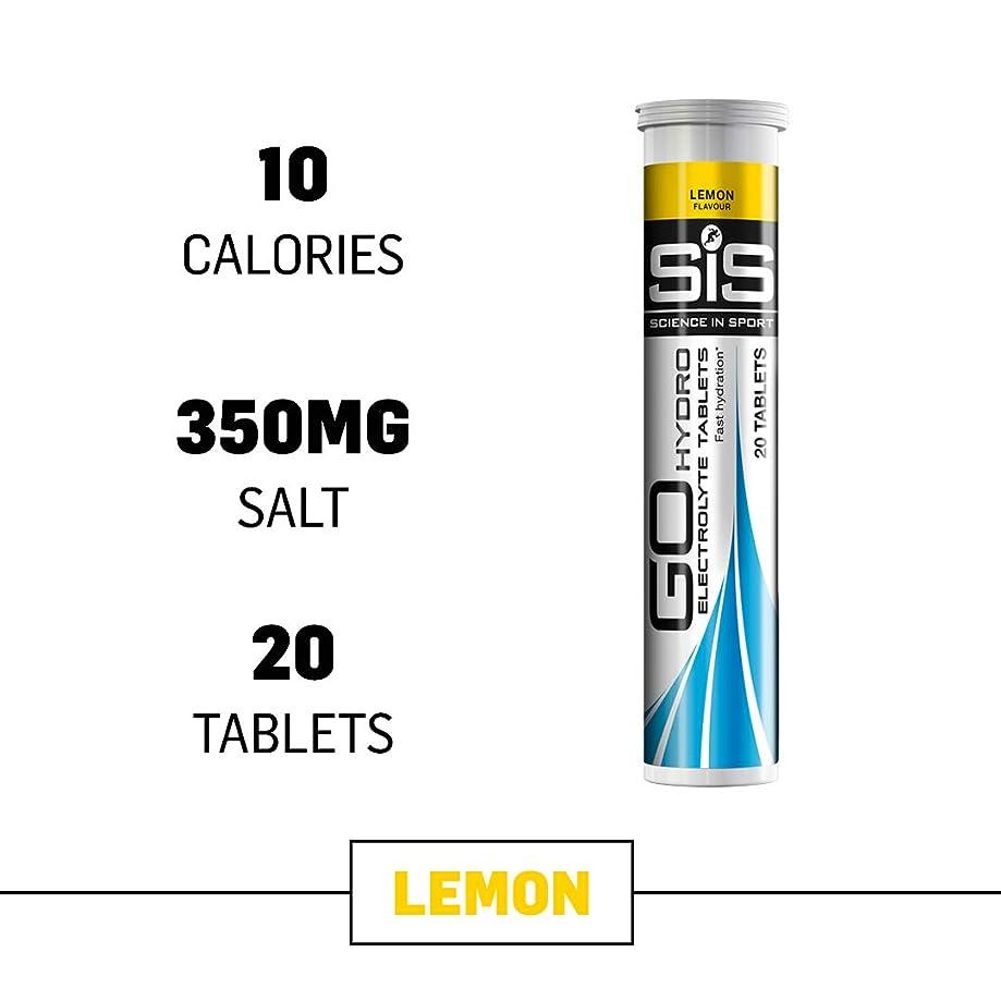 Science in Sport Go Hydro Electrolyte Tablets, Lemon Flavor Hydration & Endurance Supplement - 20 Tablets