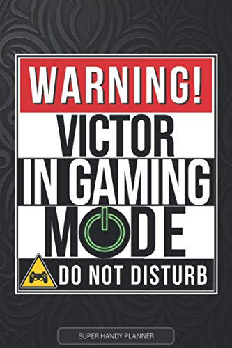 Victor: Warning Victor In Gaming Mode - Victor Name Custom Gift Planner...