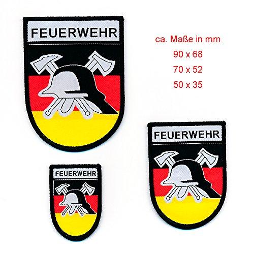 3 Feuerwehr Patches Retten Bergen Löschen Schützen Patch Aufnäher Aufbügler 0782