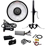 DiLiBee 26'Rueda Delantera E-Bike Motor Kit E-Bike Conversion Electric Bicycle Kit 1000W 48V Rueda Delantera Electric Bike Kit de conversión Set