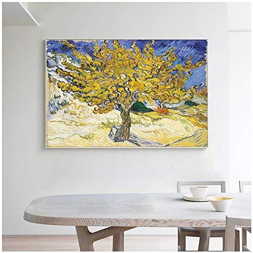 YFYW Olivenbaum Ölgemälde Leinwanddruck Wandbild für Wohnzimmer Impressionist Poster Und Print Home Decor-60x80cmx1 pcs kein Rahmen