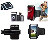 DFV mobile - Funda Brazalete Profesional de Neopreno Premium para Brazo Deporte Correr y Gimnasio para LANDVO V1 - Negra