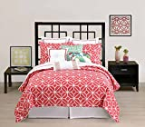 Trina Turk Residential Twin Duvet Cover Trellis Collection Coral