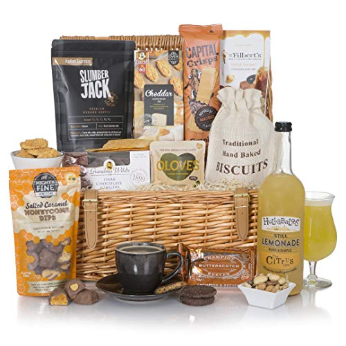 Luxury Alcohol Free Food Hamper - Food Gift Hampers - Traditional Food Hampers in Wicker Basket - Non Alcoholic Gift Baskets
