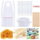 Gift2U 175pcs Tie Dye Kit, DIY Tool Fashion Craft Kits with Rubber Bands, Gloves, Sealed Bags,Dropping for Kids Adult Party Groups Supplies