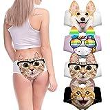 LUOAIYI Essbare Unterwäsche für Frauen, lustig, essbar, sexy Slip mit Ohren, Flirty freche Höschen - Mehrfarbig - Klein